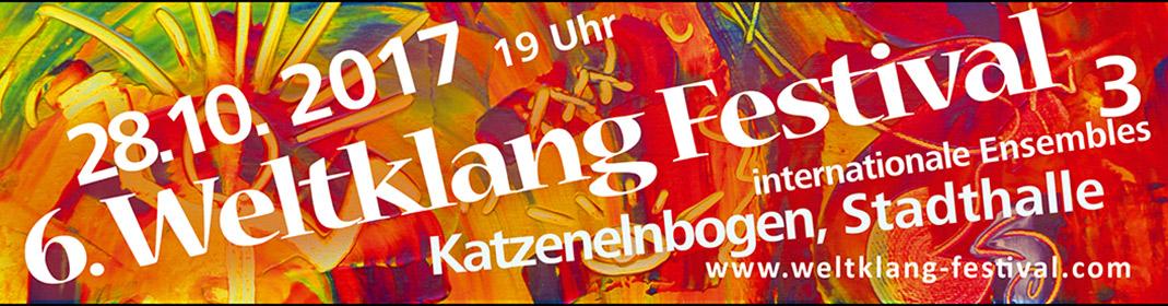 Weltklang Banner 2017